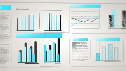 Business infographics with graphs