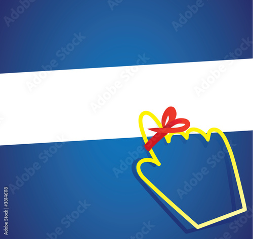 hand cursor with remember ribbon