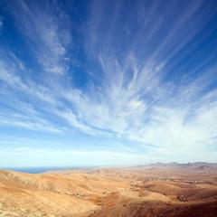 Fuerteventura, Canary Islands, view from Mirador de Guise y Ayos