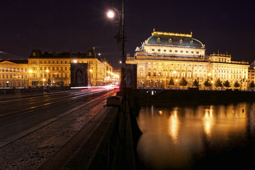 Prague at Night, National Theatre