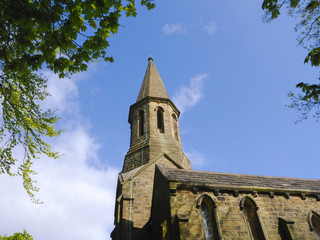 St James Church at Briercliffe Burnley Lancashire England