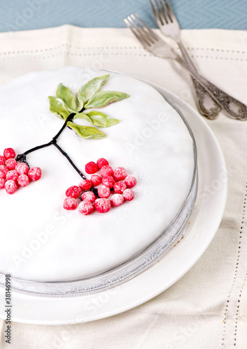 Cake with icing decoration