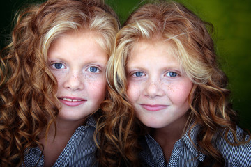 Portrait of red hair sisters