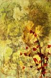 old flower print