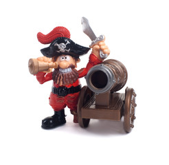 A pirate with a gun