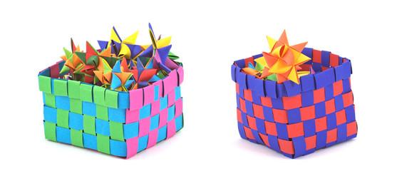 Schachtel mit Fröbelsternen