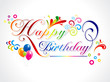 abstract happy birthday card