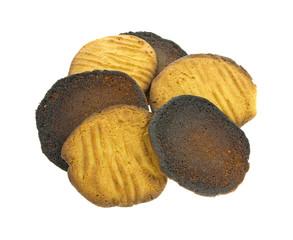 Several Burned Cookies