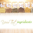 Glass jars with ingridients