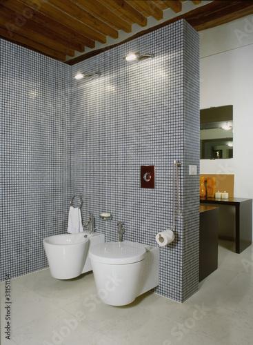 Bagno moderno con mosaico immagini e fotografie royalty free su file 38151154 - Bagno moderno mosaico ...