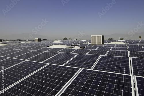 Solar panels at a solar power plant