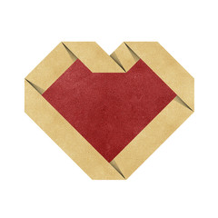 heart origami recycled papercraft