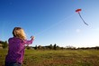 Flying her Kite
