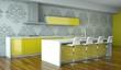 Küchendesign - Küche im Loft grün