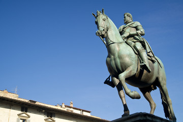 Statue of Grand Duke Ferdinand Florence Italy