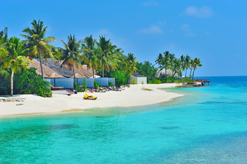 Maldives white beach