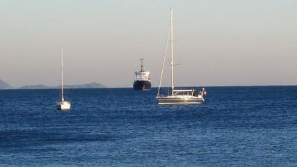 Bateaux dans la baie de la Ciotat