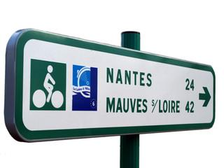 La Loire à Vélo (panneau de direction détouré)