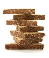 Stack of wafers in triangle shape