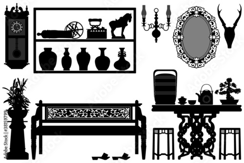 Old Antique Traditional Furniture Design Decoration