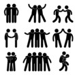 Friend Friendship Relationship Teammate Teamwork Icon Pictogram - 38160109