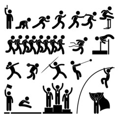 Sport Field and Track Game Athletic Winner Icon Pictogram