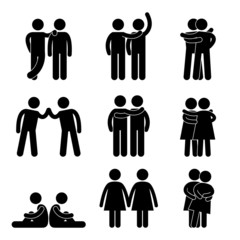 Gay Lesbian Relationship Icon Symbol Pictogram