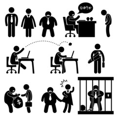 Business Office Workplace Situation Boss Manager