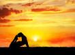 Yoga raja kapotasana pigeon pose