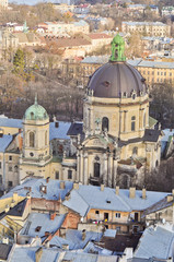 Lviv, view on the Dominican Church