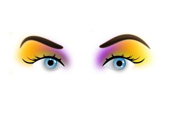 Closeup eyes of girl # Vector