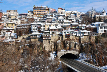 Old Town Veliko Tarnovo above the Yantra river