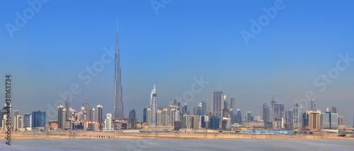 Panorama Dubai city. City centre, skyscrapers