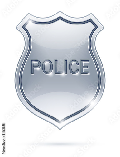 police badge vector illustration isolated on white background