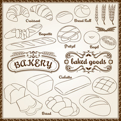 Vector Bakery Set