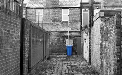 Urban inner city alley