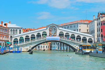 Rialto bridge and Garnd Canal in Venice