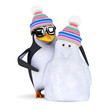 3d Penguin and his new buddy Snowpenguin