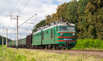 Freight electric train