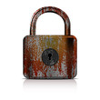 Rusty lock - vector file