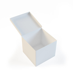 Empty open white box
