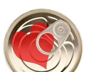 boîte de conserve sentiment Cœur