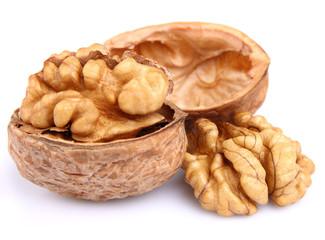 Dried walnuts in closeup