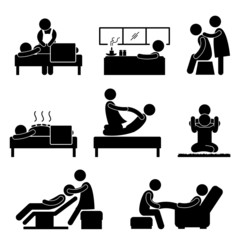 Massage Spa Therapy Wellness Aromatherapy Icon