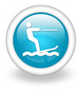"""Light Blue Icon """"Water Skiing"""""""