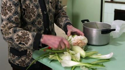 pulitura dellla verdura
