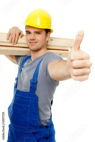 freundlicher handwerker
