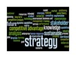 strategy word cloud - black