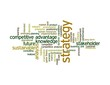 strategy word cloud - green