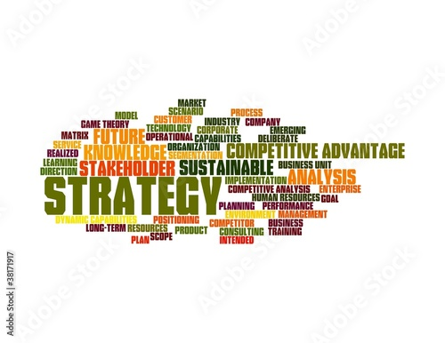 strategy word cloud - colors